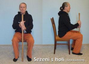 stocksitzen sezení s holí